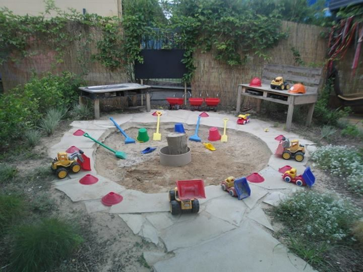 Sand Backyard Maintenance : lovely outdoor sand area at Capalaba Child Care and Early Education