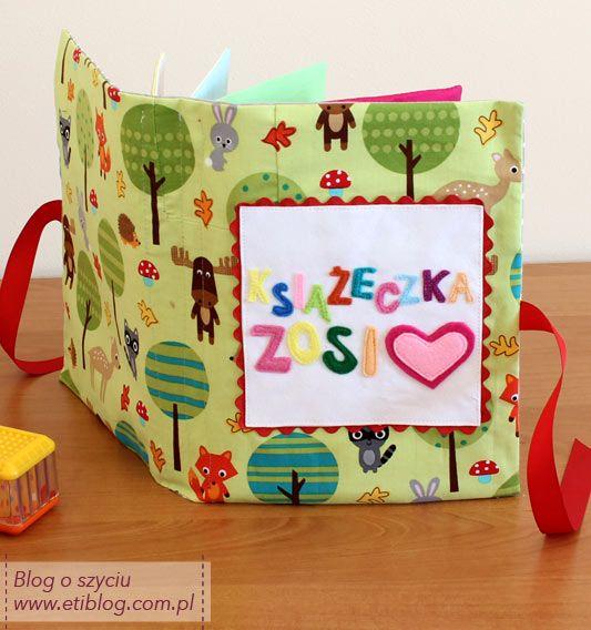 Książeczka sensoryczna (edukacyjna) dla dziecka (opis jak uszyć + wykrój do pobrania)