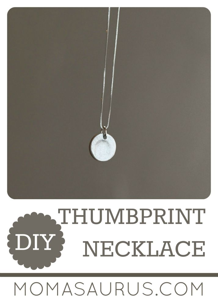 Christmas is right around the corner so I wanted to share a one of a kind gift you can make: A Thumbprint necklace. I made one with my daughter a few weeks ago and it was