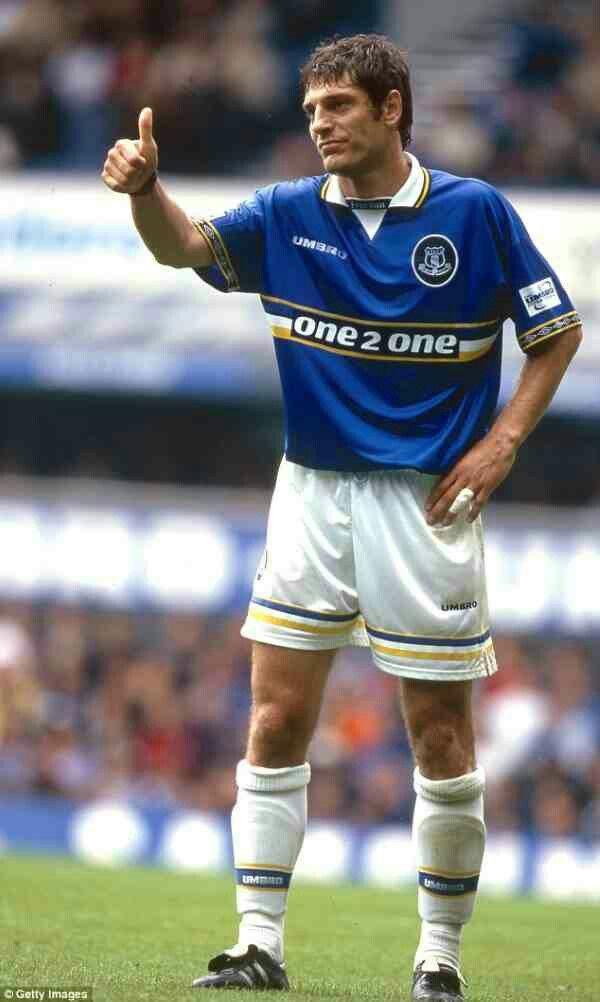 Slaven Bilic of Everton & Croatia in 1998.
