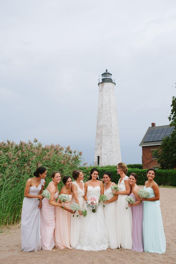 Olivia Gird Photography Pastel Bridesmaid Dress Mismatched