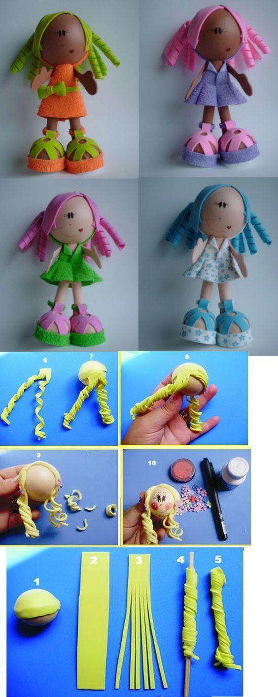 куклы из фоамирана - мастер классы с фото