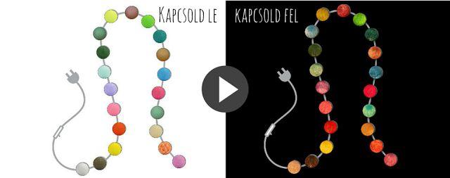 ÚJ színes gömblámpasor: Hello Hungary       Vadiúj kollekció a Cotton Ball Lights-tól