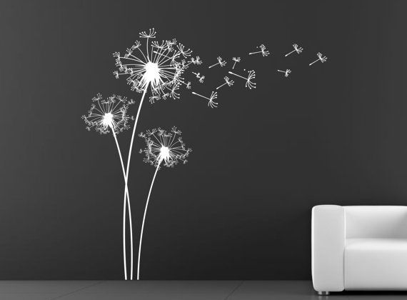Dandelion Wall stencil. Stencil decal. Mask by decoryourwall, $52.00