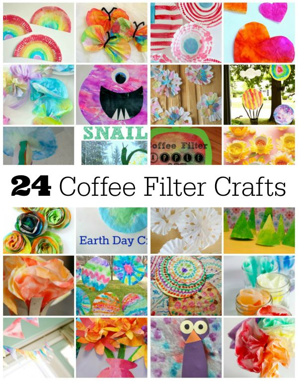 Get out your favorite craft supplies and a few coffee filters to create these 24 fun projects with your kiddos to make Coffee Filter Crafts!