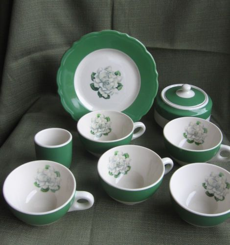 Mixed Lot Syracuse China WHITFIELD Green White Gardenia Pattern Restaurant ware & 142 best H Syracuse China - Syracuse New York - 1861-2009 images on ...