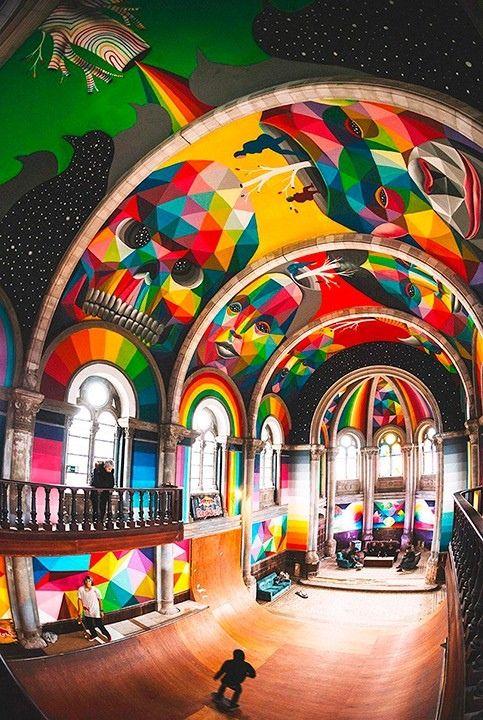 Церковь в Испании превратили в скейт-парк и украсили муралами — Авторы вдохнули жизнь в заброшенный собор Санта-Барбара.