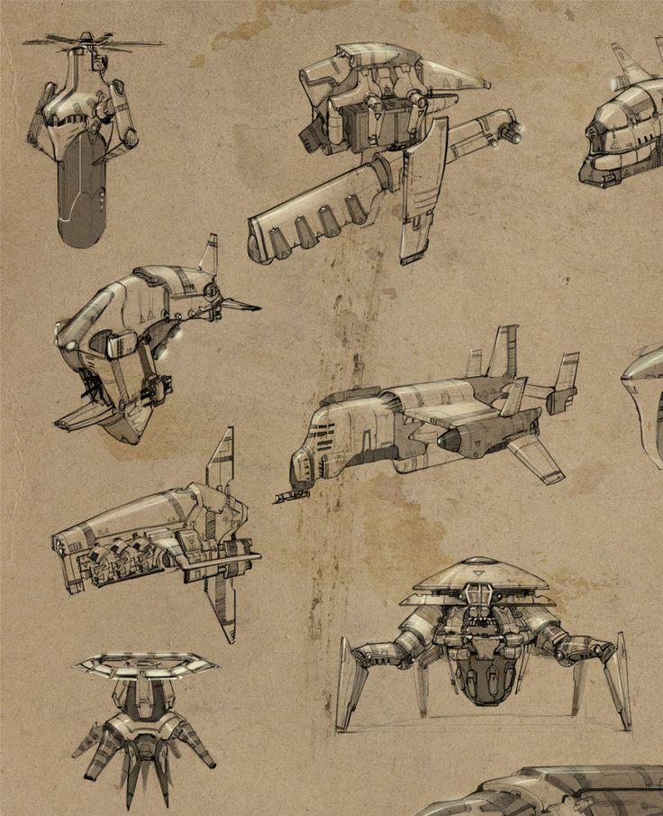 Concept ships from openworld (Sega's Stormrise)