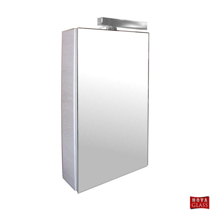 Ντουλάπι μπάνιου με επένδυση καθρέπτη και φωτιστικό Νο 340