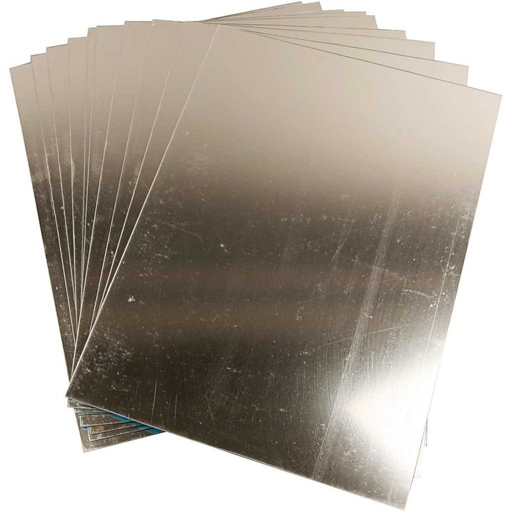 Plastic Mirror, sheet 29,5x21 cm, thickness 1,1 mm, 1 sheet