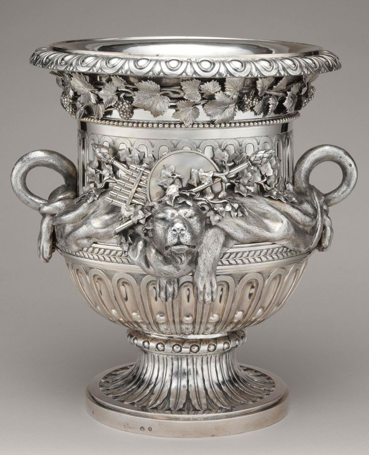 One of a pair of wine coolers, circa 1781: Beautiful Silver, Antiques Silver, Austria Vienna, Würth Austrian, Silver Tableware, Champagne Buckets, Sterling Silver, Circa 1781, Wine Coolers