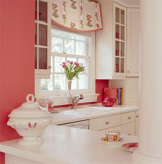 rojo y blanco cocina kitchen pinterest rojo On decoracion hogar blanco