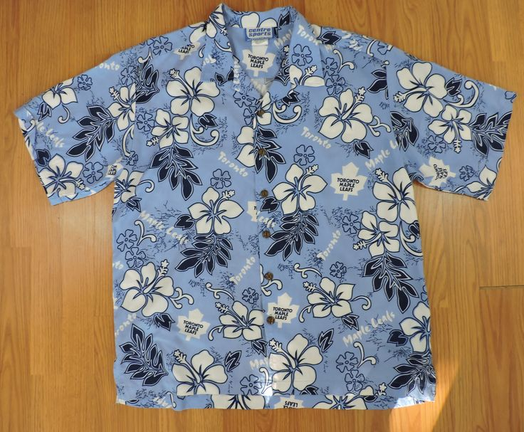 Vintage Toronto Maple Leafs Hawaiian Shirt #toronto #torontomapleleafs #nhl #hockey