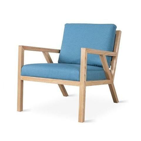 Globe West Living Room Gus Truss Chair / Surf Blue