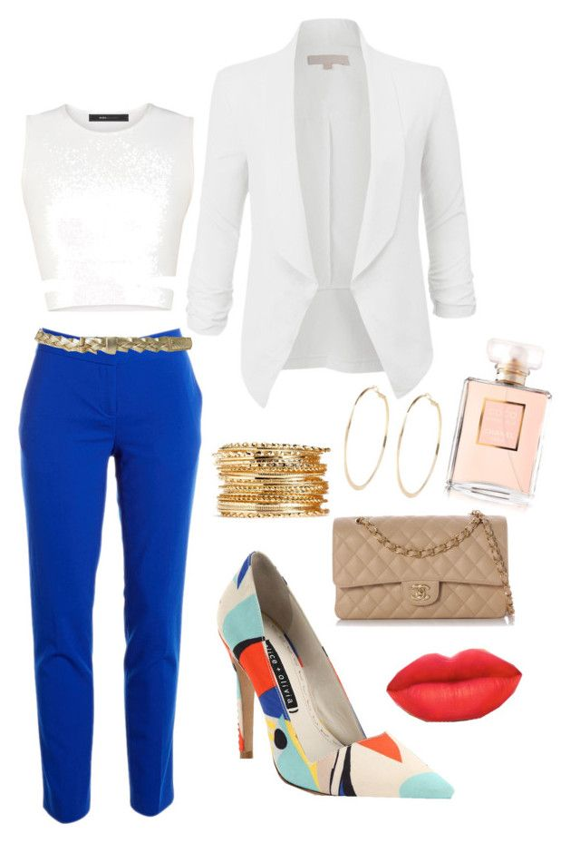 New York Minute by ladyhawk1980 on Polyvore featuring polyvore fashion style BCBGMAXAZRIA LE3NO Vince Camuto Alice + Olivia Chanel River Island clothing