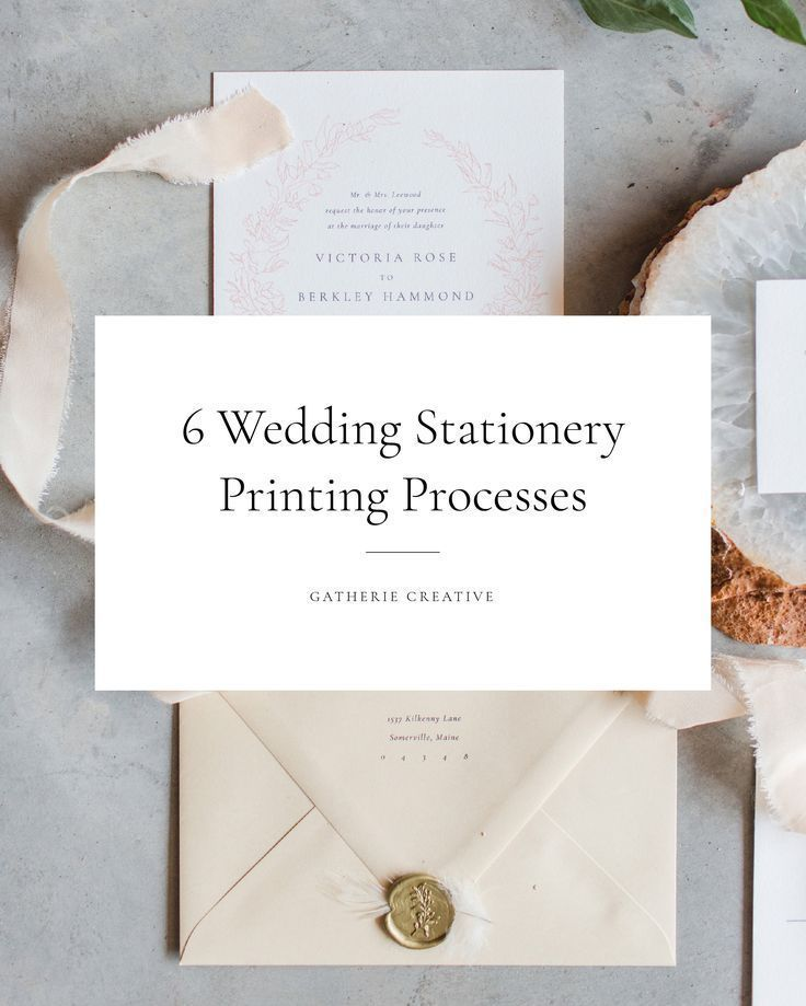Gatherie Creative A Crash Course On Wedding Stationery Printing Processes Stationery Printing Wedding Stationery Stationery