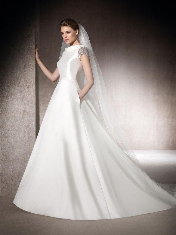 Vestido de novia corte en a Melany