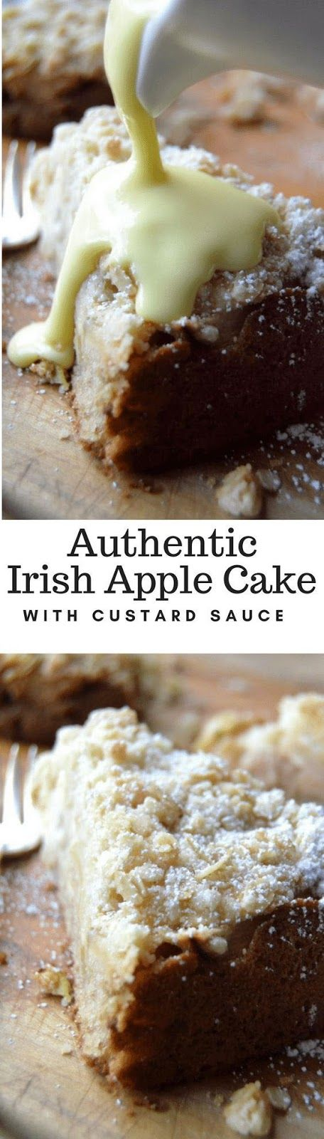 Authentic Irish Apple Cake With Custard Sauce cakerecipes