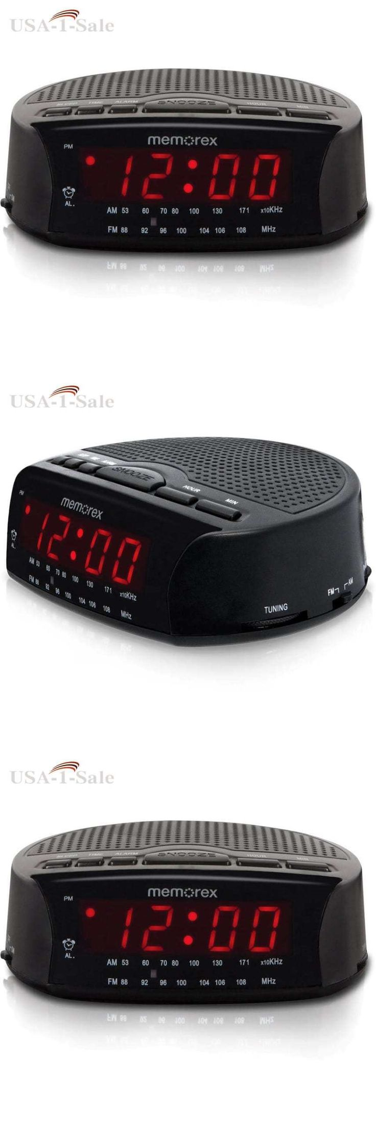 Digital Clocks and Clock Radios: Am/Fm Radio Alarm Clock Electric Digital Red Led With Snooze Black New -> BUY IT NOW ONLY: $51.79 on eBay!