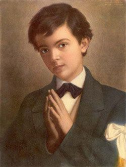 "St. Dominic Savio - This student of St. John Bosco was known for his piety and good nature. Dreamed of being a priest, but died at only 15. He is quoted as having said, ""Here we make sanctity consist in being joyful all the time & in faithfully performing our duties."" Feast day - 3/9. Lord, may I joyfully and faithfully embrace the tasks you place before me with a happy and serving heart."