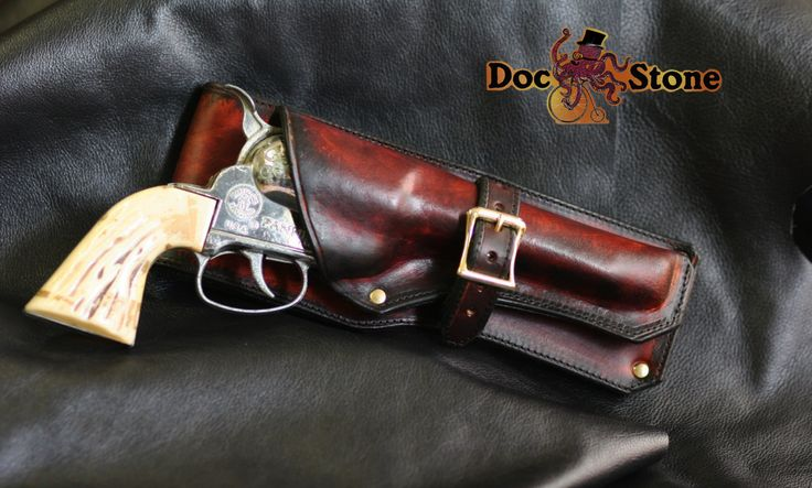 Fanner 50 antique replica gun with custom holster by DocStonesTinkering on Etsy