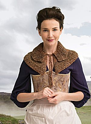 Outlander the Series Kit: Awakened Witch Trial Capelet (Knit). Each kit includes all the yarn you need for the project, as well as a copy of the pattern.