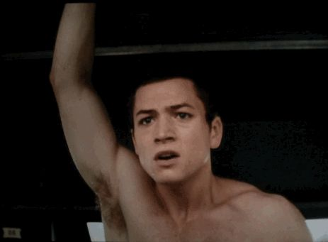 Pin for Later: Taron Egerton Is Kingsman: The Secret Service's Breakout Star He panics, but in a supersexy way.