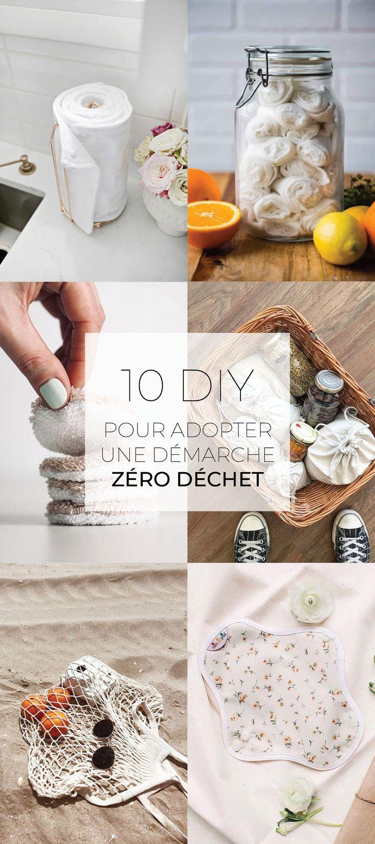 10 DIY pour adopter une démarche zéro déchet | Zéro déchet, Déchets, Fait maison
