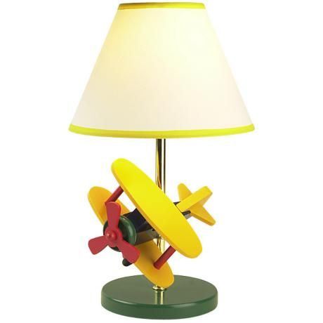 Zoom Wooden Airplane Children's Table Lamp   $64.91