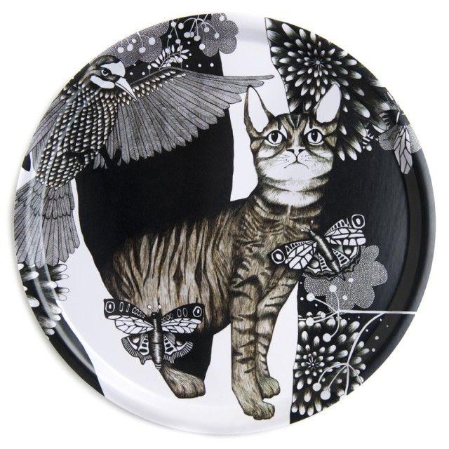 The cat - Nadja Wedin Design #nordicdesigncollective #nadjawedindesign #nadjawedin #thecat #cat #tray #grey #fiftyshadesofgrey