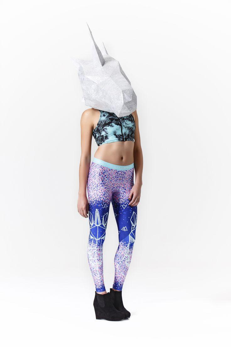 #mermaidsandunicorns Geo Unicorn leggings, in Twilight colourway #unicorn #leggings