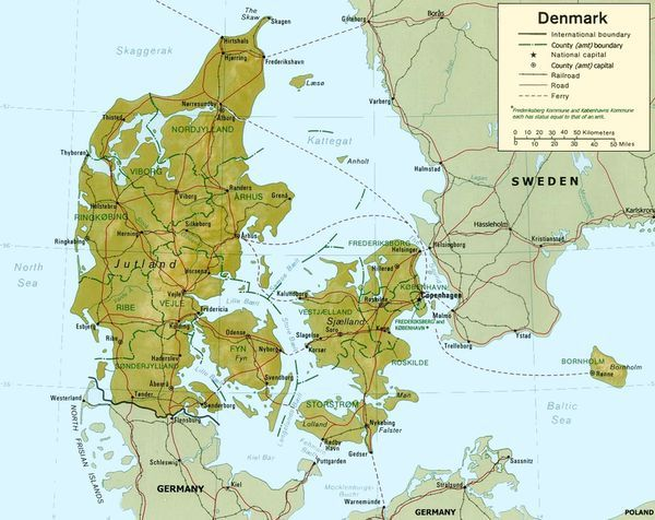Everything You Need To Know About The Scandinavian Region Denmark Map Relief Map Denmark