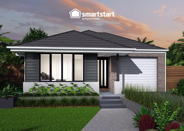 Beaumont with Oakley Facade   Make a lasting impression with this stunning facade.  #firsthomebuyer #smartstart #smartstarthomes #streetappeal #streetappealideas #streetappealaustralia #streetappealaustraliafrontyards #streetstyle #facadehousesinglestorey