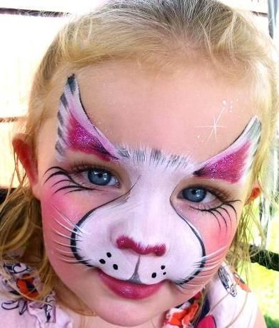 idea for less-paint kitten face paint