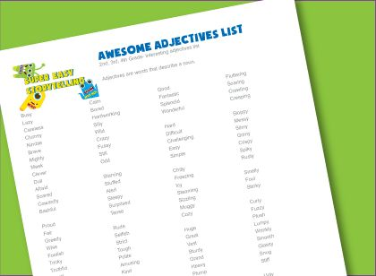 List of adjectives for kids creative writing- easy and advanced lists