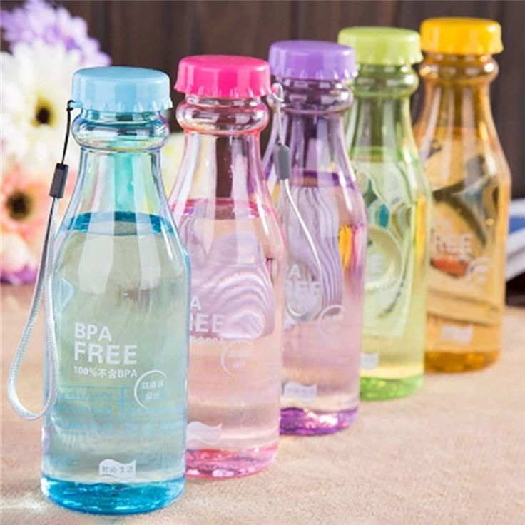 550ml BPA Free Plastic Water Bottle Portable Leak-proof Climbing Hiking Riding Bike Sports Water Container Transparent Frosted