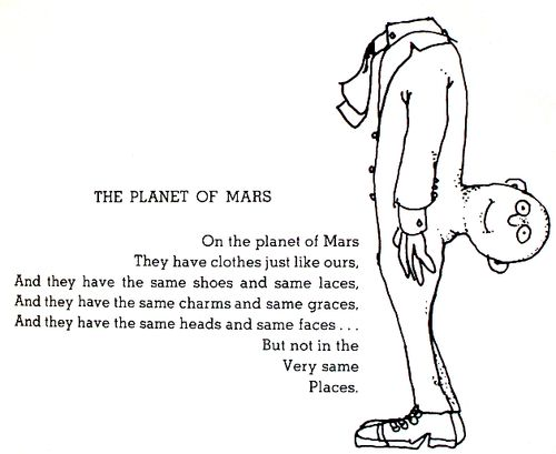 Funny Poems By Shel Silverstein: The Planet Of Mars