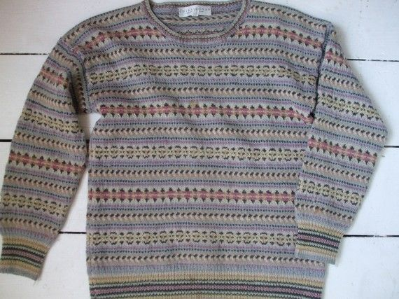 handknit Edina Ronay vintage sweater