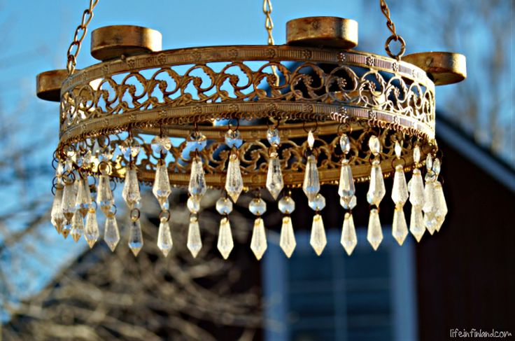 A very beautiful candelabra hanging on the porch. #Finland #decor