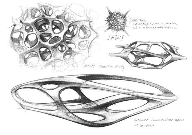 Mercedes-Benz interior sculpture Aesthetics