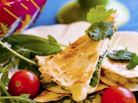 Quesadillas med kyckling och mozzarella | Recept från Köket.se