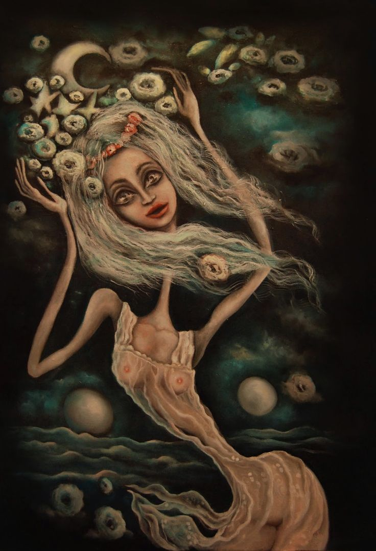 Paintings by Dana Stefania Apostol : the lady of a mysterious night