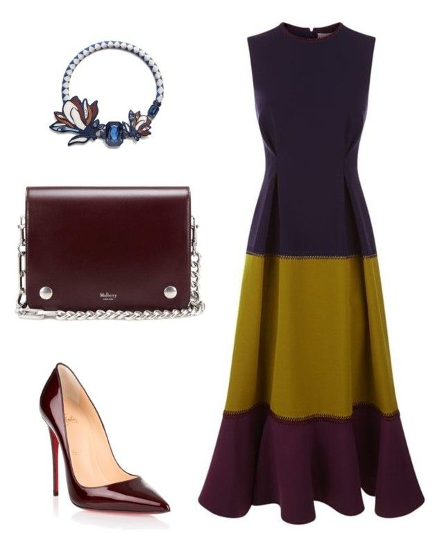 """Untitled #351"" by arta13 on Polyvore featuring Roksanda, Christian Louboutin, Mulberry and Tory Burch"