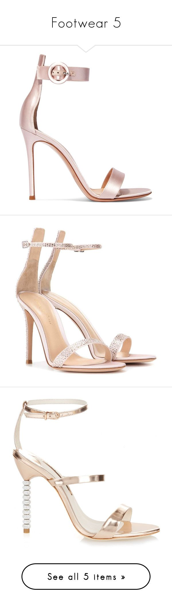 """""""Footwear 5"""" by lalalace-1 ❤ liked on Polyvore featuring shoes, sandals, heels, strappy high heel sandals, pink bridal shoes, bridal sandals, pink high heel sandals, buckle sandals, pink and satin sandals"""