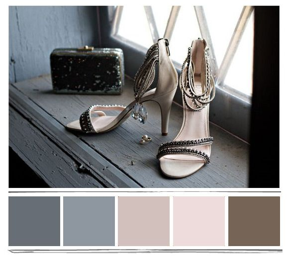 Color Palette for Master: pink, grey, smoked blue and brown
