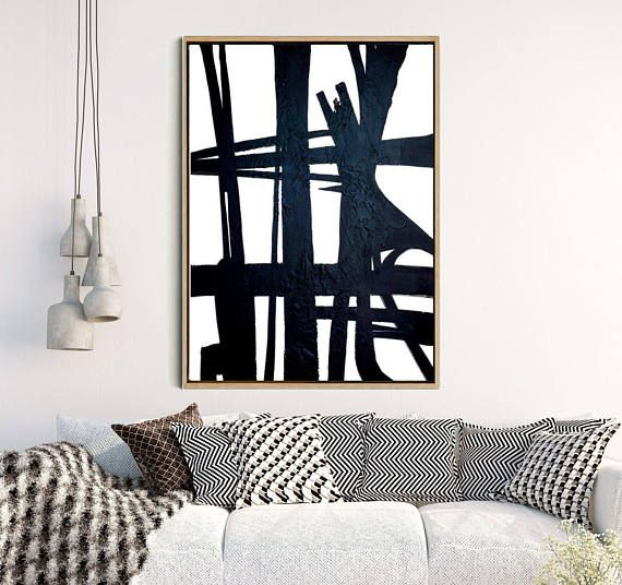 Large Wall Art, Absract Art Print, Abstract Art, Black And White Print, Home Decor, Wall Decor, Instant Download