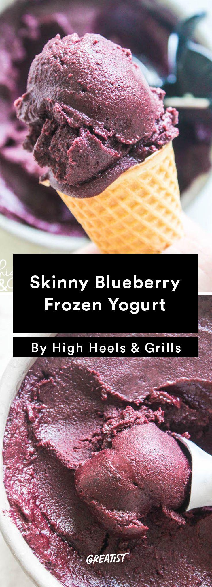 1. Skinny Blueberry Frozen Yogurt http://greatist.com/eat/frozen-yogurt-recipes-with-5-ingredients-or-less