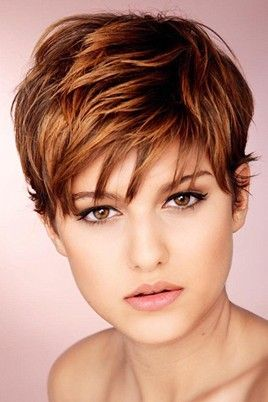Short-hairstyle-with-choppy-layers. I might go there. Maybe. REALLY PRETTY COLOR...but not my color