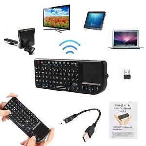 a negro 24g g miniteclado inalambrico raton touchpad para pc android tv box hf