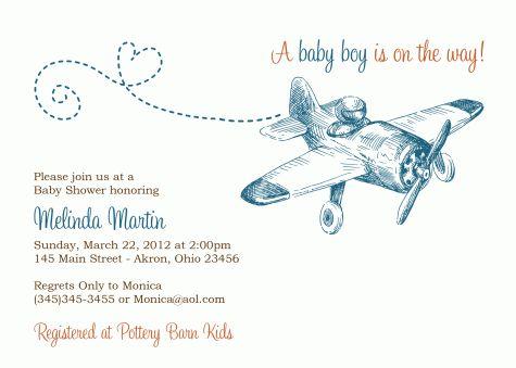 nursery rhyme baby shower theme   Vintage Airplane Birthday Invitation Baby Shower Custom Party 1st 2nd ...